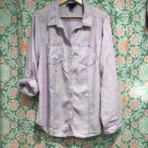 Lane Bryant Lavender Button Down